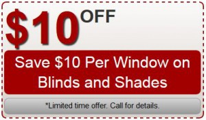 Blinds & Shades Coupon Specials