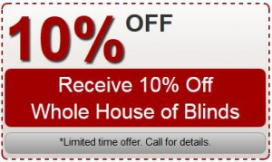 Whole House Blinds Coupon Specials